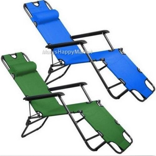Folding Patio Lounge Chair #Pool Metal #Chaise #Outdoor #Camping Headrest Metal Bed #Folding #Patio #Lounge #Chair #USA #home #summer #beach #sales #ebay