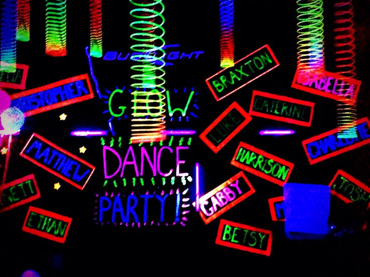 Glow Party Decorations Glow Party And Black Paper On Pinterest