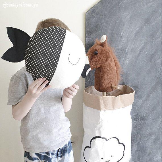 Fish Pillow. Kids Pillow. Nursery Decor. Child от ScandiROOM