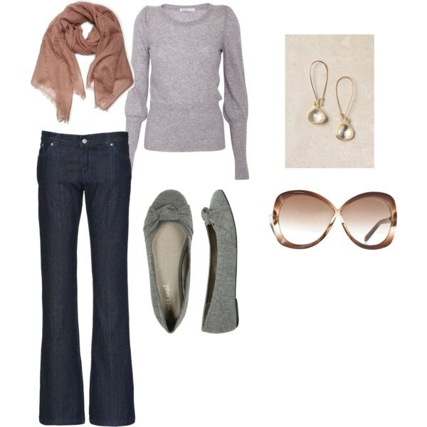 Casual and cute.: Casual Everyday, Clothing Etc, Everyday Grey, Daytime Outfits, Cute Outfits, Everyday Looks, Style Wis, Clothing Hair, Earrings
