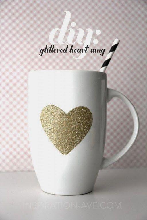 DIY Glitter Mug by Inspiration Avenue