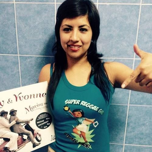 Akire from Mexico in Super Reggae Girl Tanktop. BOSS!  tanktop available here: http://biggerboss.spreadshirt.co.uk/shop/designs or here: http://www.zazzle.com/biggerboss