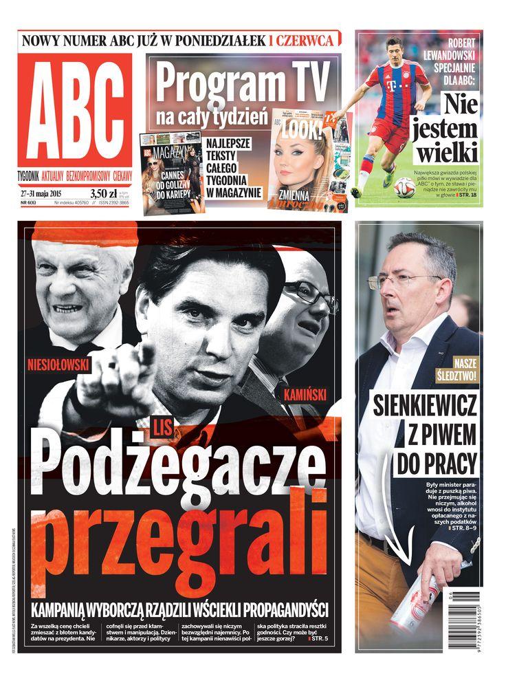 ABC nr 6/6 cover Podrzegacze przegrali Lis Niesiołowski Kamiński, Sienkiewicz