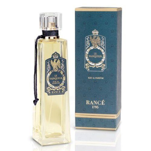 Le Vainqueur EDP By Rance 3.4 Oz by Rance. Save 24 Off!. $101.99. Eau de Parfum for Men. 100ml/3.4 Fl. Oz. Spray. Le Vainqueur by Rance 1795 is a Woody Aromatic fragrance for men. The bright thrilling freshness of the Mediterranean Citrus is enriched with the energetic tones of grapefruit, ginger and other melon tones then tempered with the elegance of jasmine.  The aromatic verve of lavender and geranium highlight the determined, virile and powerful character of this fragrance.  ...