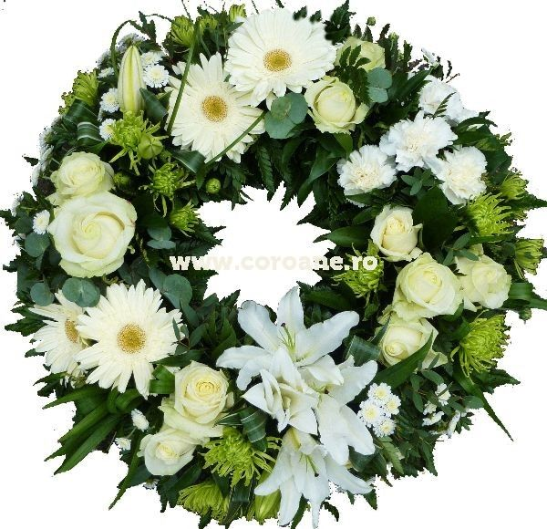Oferta speciala coroana funerara, flori proaspete si delicate pentru un omagiu special!