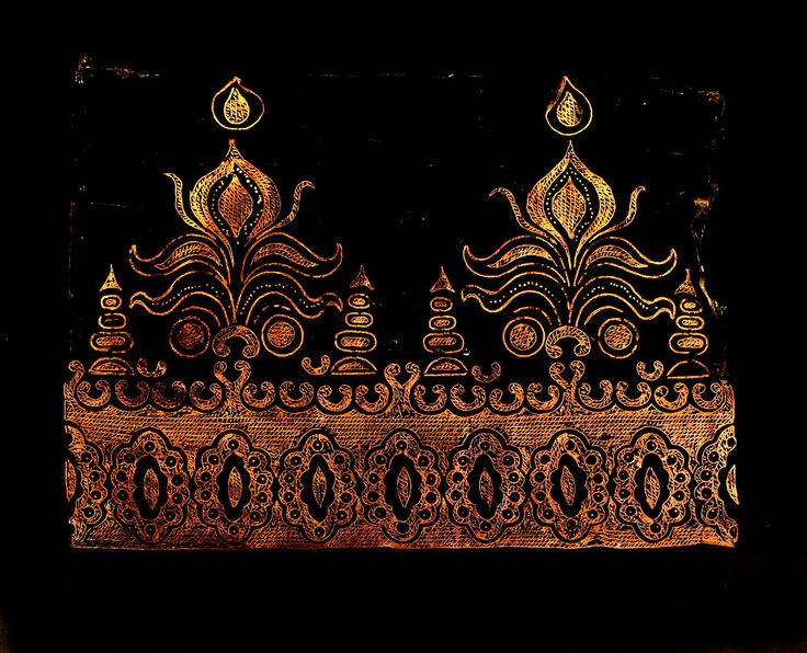 Check out the deal on Vintage Handmade Indonesian Copper Batik Stamp/Cap/Tjap- Tumpal-like Border at artisticartifacts.com