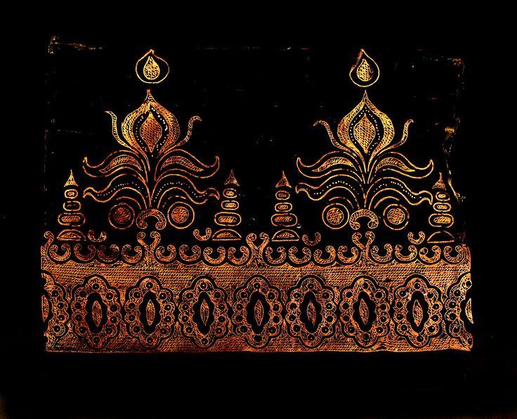 Check out the deal on Vintage Handmade Indonesian Copper Batik Stamp/Cap/Tjap- Tumpal-like Border at artisticartifacts.com