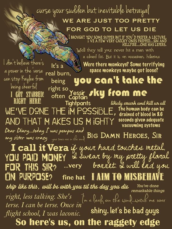 Firefly quotes                                                                                                                                                                                 More