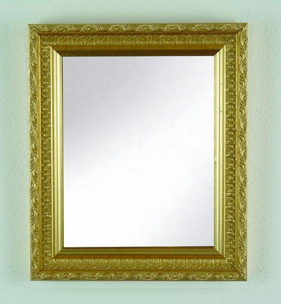 Spiegel - Deko Barock Spiegel Valencia ca. 28 x 33 cm gold - ein Designerstück von 1000Rahmen bei DaWanda
