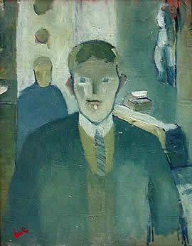 Åke Göransson, Självporträtt som frisör, 1930/32