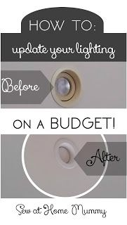 Sew at Home Mummy: Update your yellowed recessed can, pot or downlight lights fast, easily & cheaply