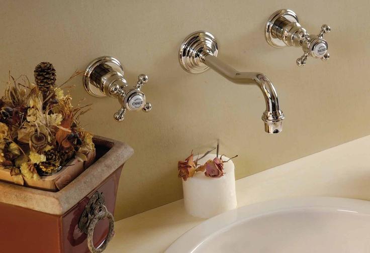 wall-mounted 3-hole basin mixer