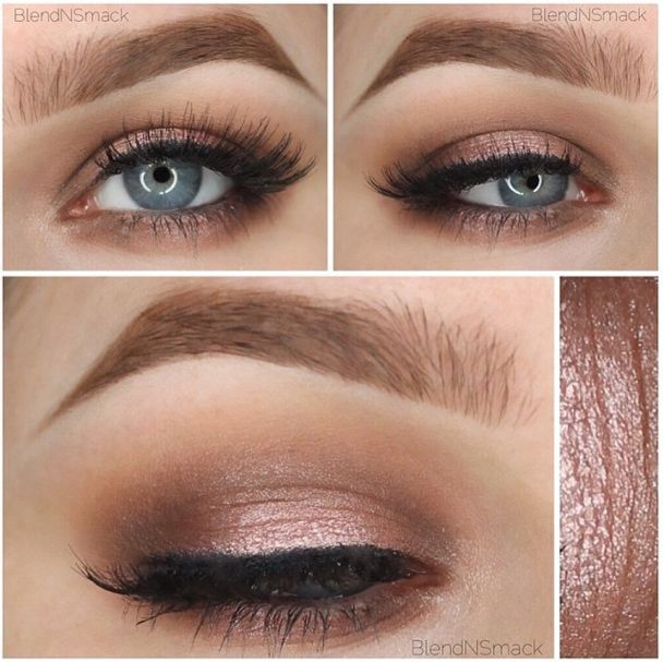 Gentle wedding eye make-up for the Bride or Bridesmaids.