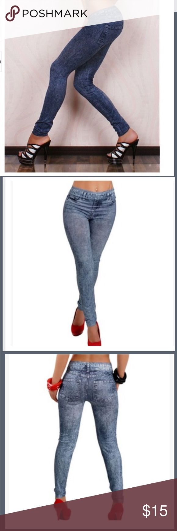 "Leggings New Stylish Lady's blue Denim Like Faux Jean Pants Leggings plus size sexy tight slim pants (Color: Blue)  Notice:the size standard is Asian size (instead of US size or EU size) please read the size date before purchase Waist:64cm(25.20""),Hip:74cm(29.13""),Length:90cm(35.43"")-95cm(37.40"").  Note:  1 inch=2.54cm compare above detailed size with your measurement before purchase. Please allow 1-2cm differs due to manual measurement. we will try our best to help you have a perfect…"