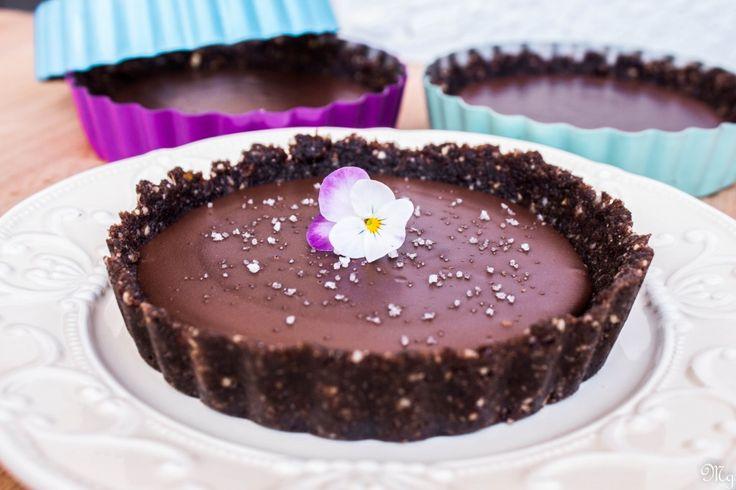 Čokoládové tortičky so soľou
