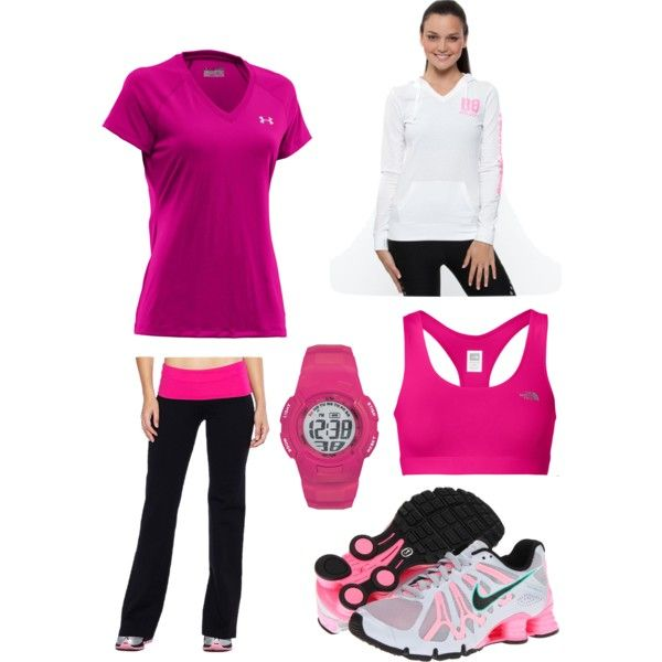 pink running outfit
