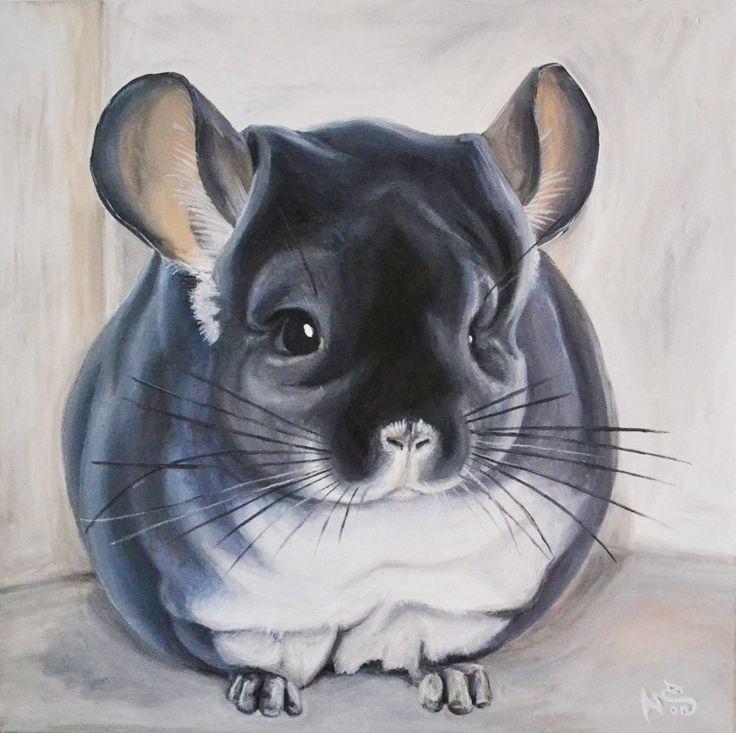 MaLenka chinchilla Animal Paradise Lužec CZ Akryl na plátně