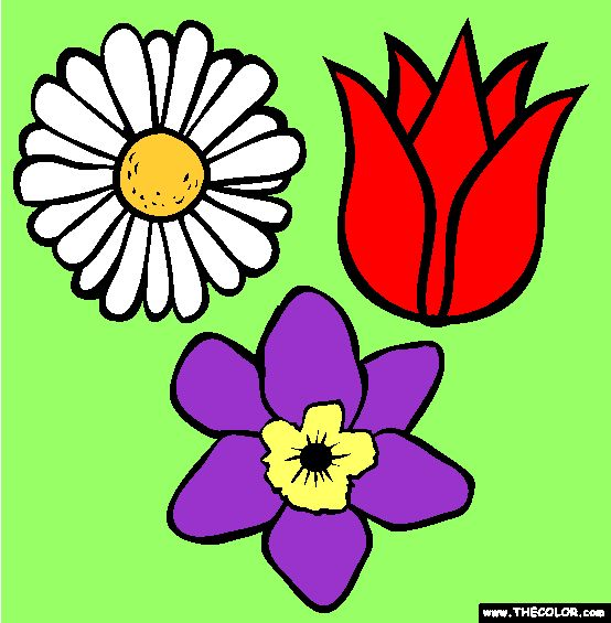 Free Spring Coloring Pages Color In This Picture Of Flowers And Others With Our Library Online