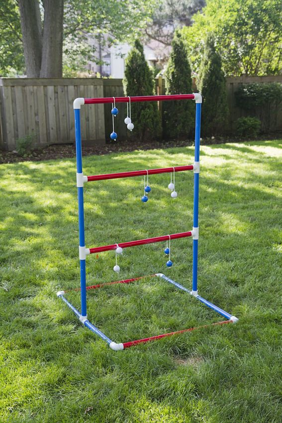 DIY Ladder toss game  http://www.curbly.com/users/bruno/posts/15207-easy-diy-outdoor-games-anyone-can-make