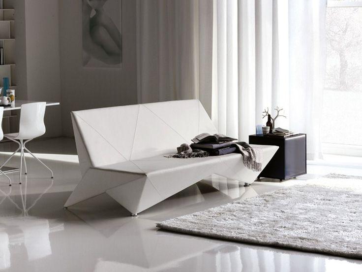 Leather Sofa Bed ORIGAMI   Cattelan Italia