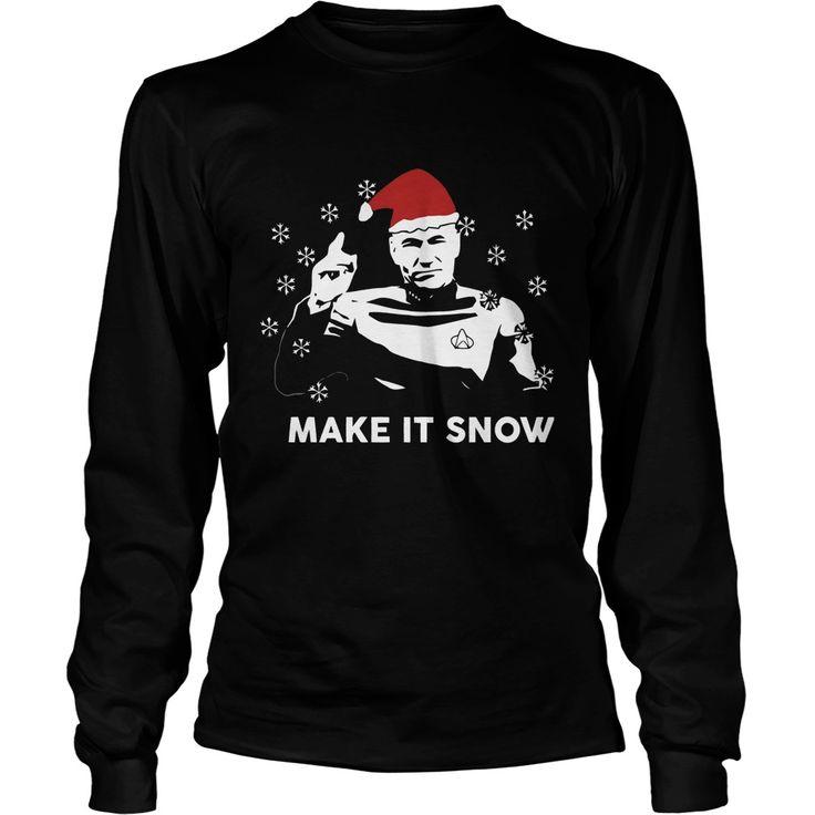 star trek make it snow christmas sweater shirt and hoodie
