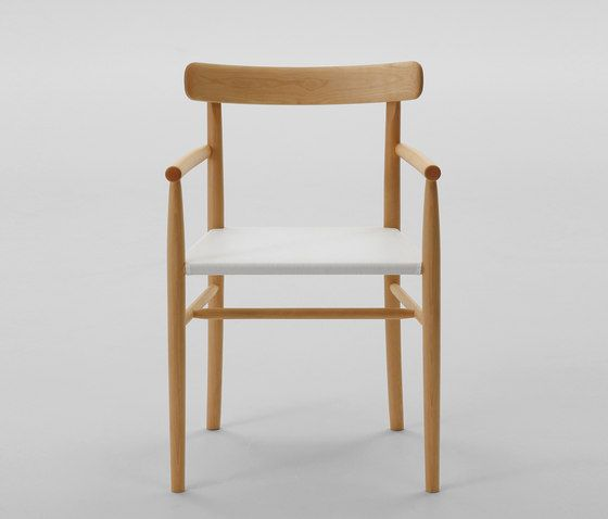 Lightwood Arm Chair (Mesh Seat) by MARUNI | Restaurant chairs