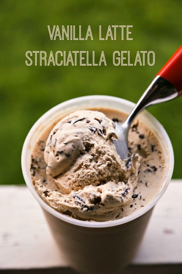 Vanilla Latte Straciatella Gelato plus a video tutorial
