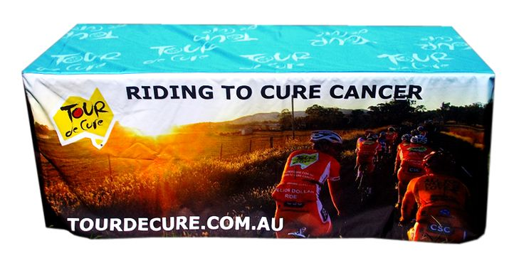 Riding to cure cancer has never looked this good! Tour de Cure has a great brand and now beautiful printed table cover thanks to Star Outdoor. Get one for your business and discover much much at www.staroutdoor.com.au