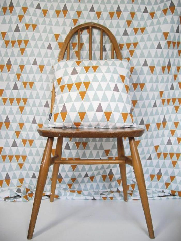 tissu scandinave, motifs géométriques sur les textiles d'intérieur