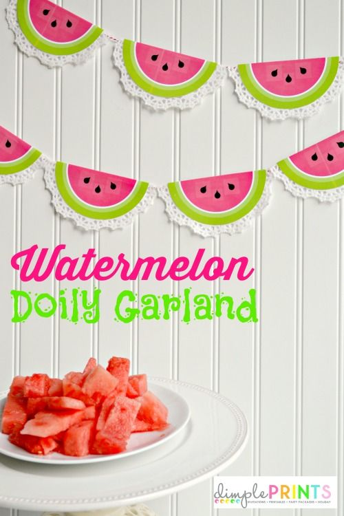 Printable Watermelon Doily Garland {Hello Summer} I Heart Nap Time | I Heart Nap Time - Easy recipes, DIY crafts, Homemaking
