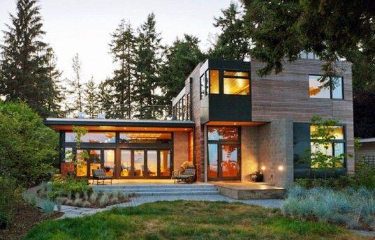 Ellis Residence: A Stunning LEED Platinum Home on Bainbridge Island by Coates Design   Inhabitat - Sustainable Design Innovation, Eco Architecture, Green Building