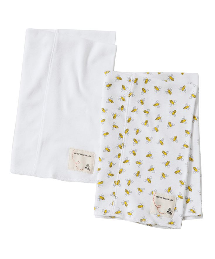 Cloud & Bumble Bee Organic Burp Cloth - Set of Two