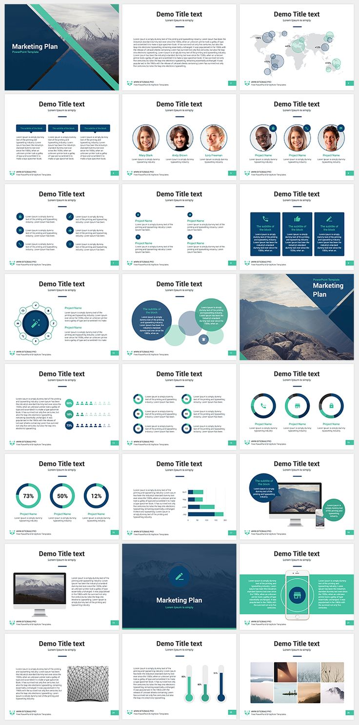 Marketing Plan free PowerPoint template - SITE2MAX