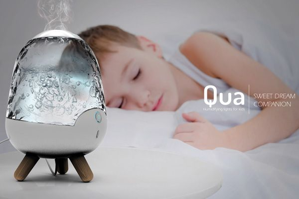 A Nightlight and Humidifier giving off a comforting ambience while you sleep. #lighting #humidifier #YankoDesign