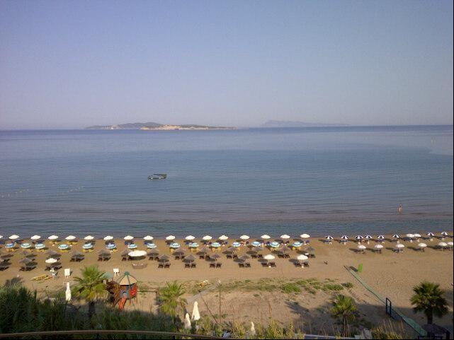 Amazing view to the sea from Delfino Blu Boutique Hotel. Image via @Bill Hughes G.