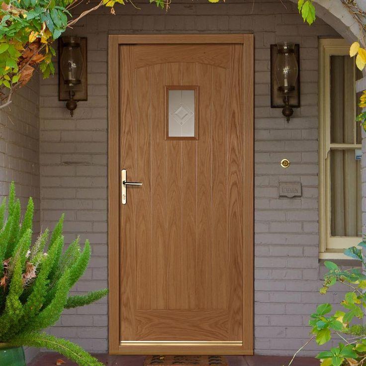 Cottage Part L Compliant External Oak Door with Zinc Inlay Argon Filled Double Glazing. #externaldoor #externalpartldoor #cottagedoor