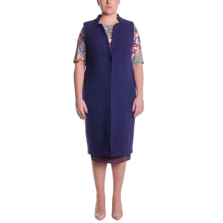 Жилет большого размера купить в интернет магазине эксклюзивной женской одежды Victoria de Soie с доставкой по России, Украине, СНГ. +38(050)777-42-44