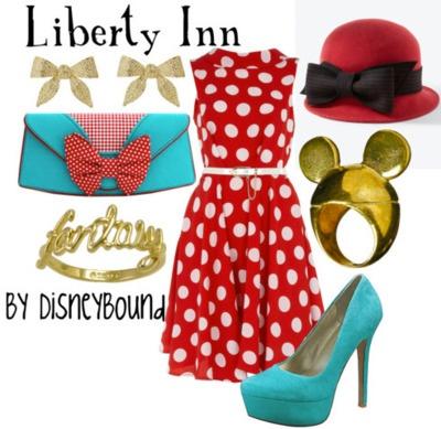.: Disney Outfits, Disney Style, Disney Inspired, Dresses, Liberty Inn, Disneybound Outfits, Disney Clothes, Disney Bound, Disney Fashion