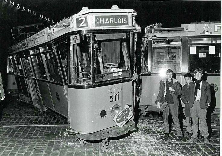 Tram ongeluk. Groot nieuws destijds