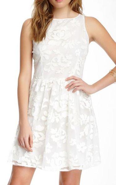 BB Dakota 'Sibley' Floral Applique Fit & Flare Dress