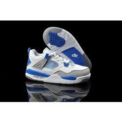 Nike Air Jordan 4 Kids Blue/White/Gray