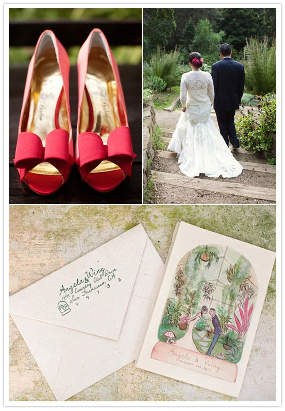 Northern California greenhouse wedding | http://www.100layercake.com/blog/2012/02/06/northern-california-greenhouse-wedding-angela-wing/