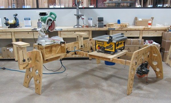 how to build a sime saw horse