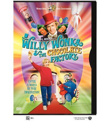 Willy Wonka & Chocolate Factory  DVD Gene Wilder, Jack Albertson, Peter Ostrum,