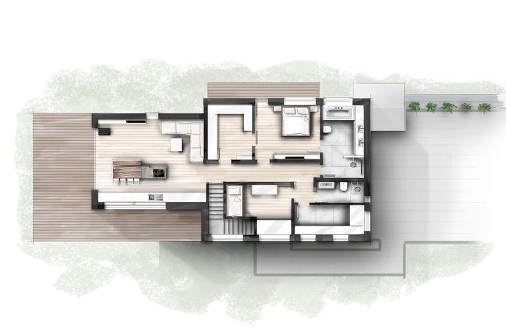 Entwurf wohnhaus2 innenarchitektur zeichnungen skizzen for Innenarchitektur informationen
