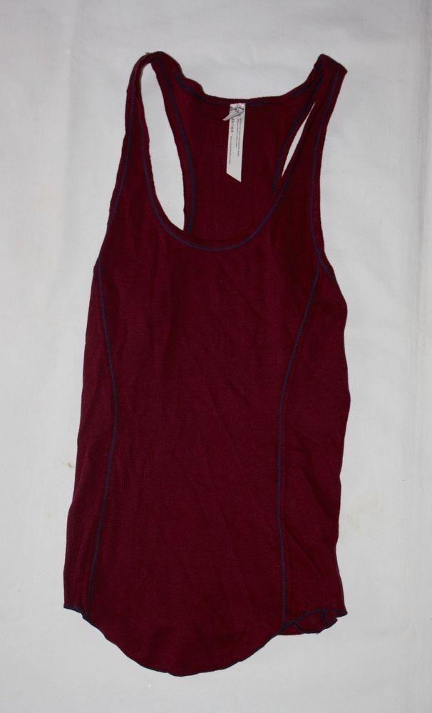 9a1ee376b01bf New Intimately Free People Maroon Red Sleep Lounge Tank Top Cami Shirt NWOT   FreePeople  SleepTank