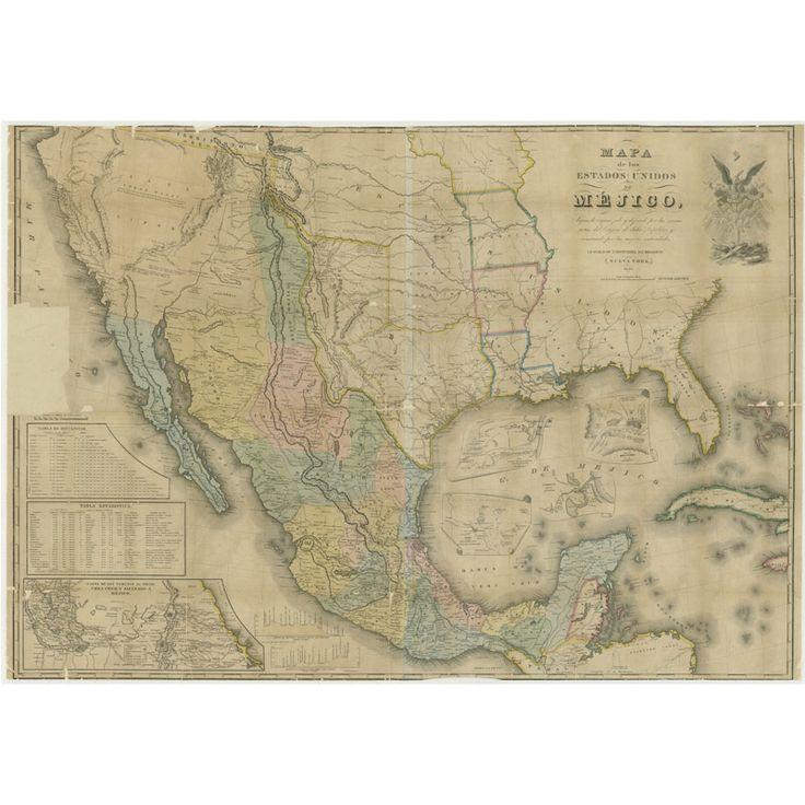 Best Antique Maps Of Spain Images On Pinterest Antique Maps - Us map 1847