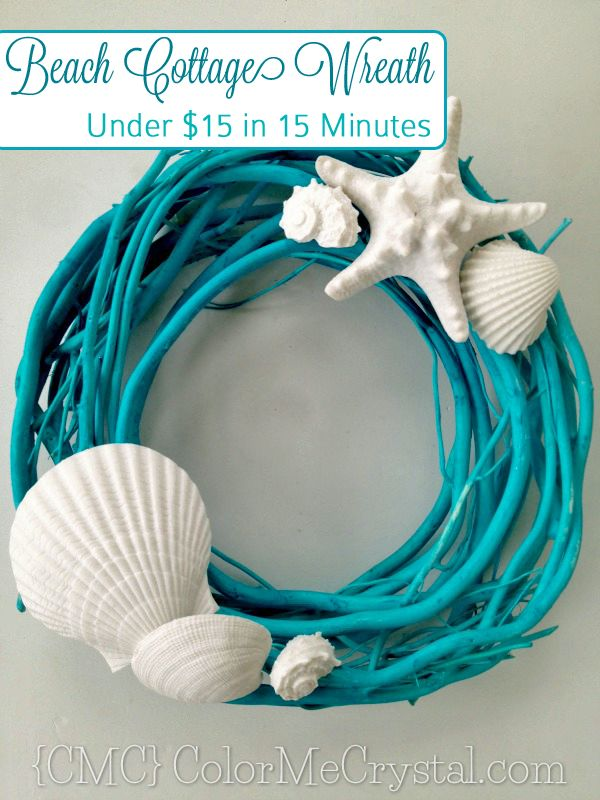 If the summer weather has you in the mood for the beach, bring the beach to you with this easy and inexpensive Beach Cottage Wreath. You can make your own Beach Cottage Wreath, just like this one, using just a handful of easy to find supplies. In fact, I was able to craft the wreath you  [Keep Reading]