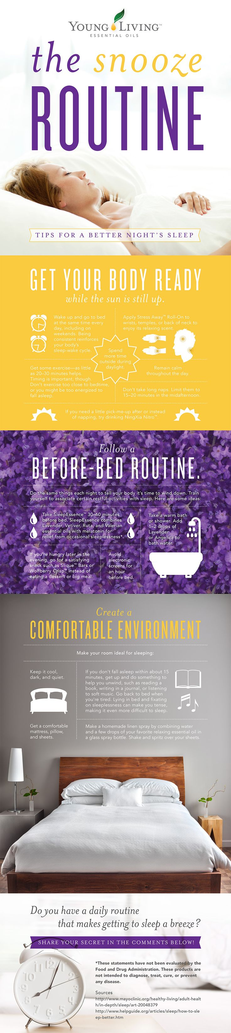 Get a Better Night Sleep - quick tips from Young Living     TheConfidentMom.com