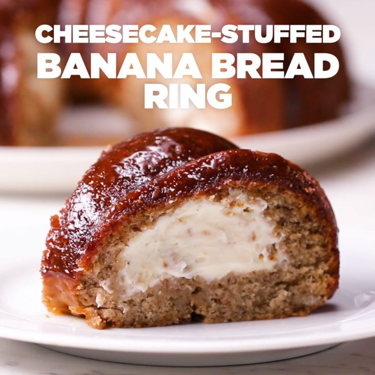 Cheesecake-Stuffed Banana Bread Ring